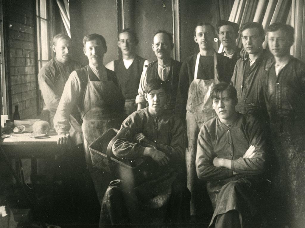 Personalbild på Edenholms fabriken